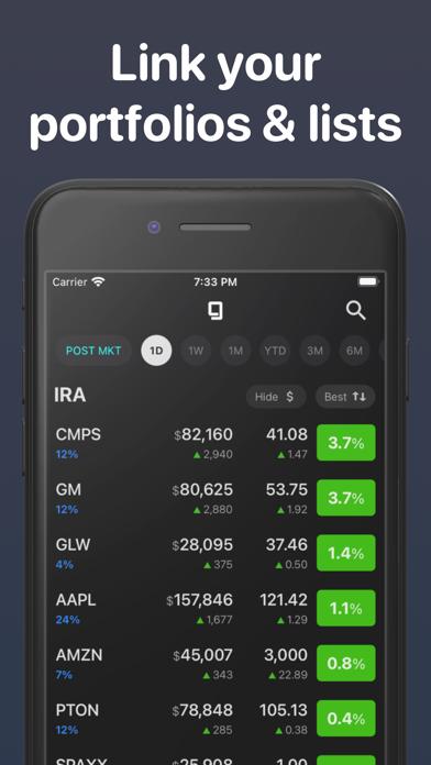 Stock Genius - Portfolio App Screenshot
