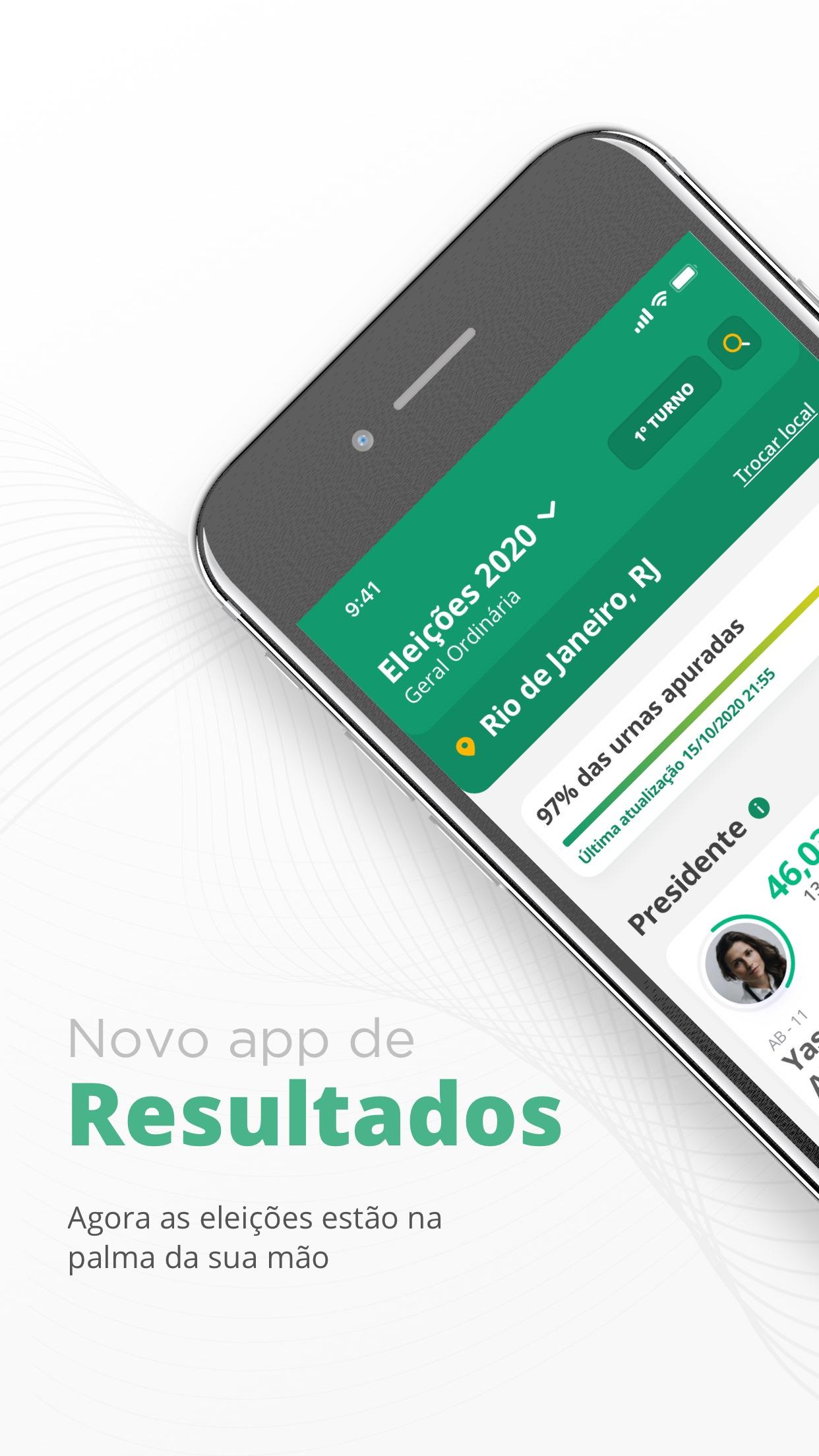 Screenshot do app Resultados