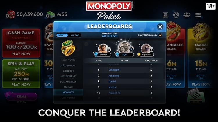 MONOPOLY Poker - Texas Holdem screenshot-6