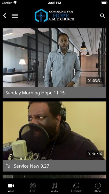 Community Of Hope AME TV