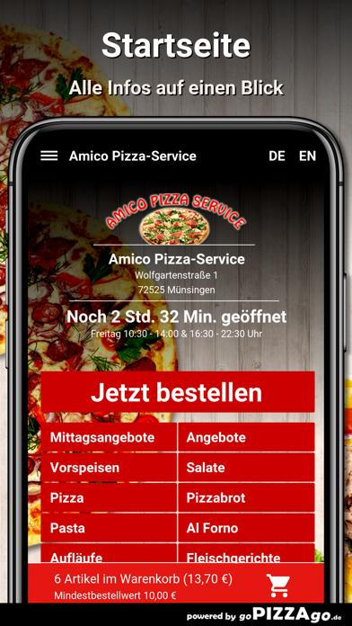 Amico Pizza-Service Münsingen screenshot 2