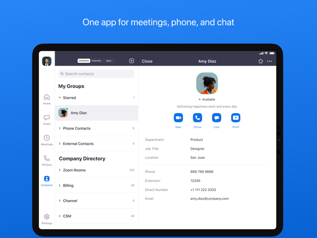 ‎ZOOM Cloud Meetings Screenshot