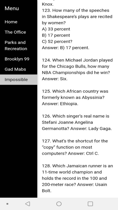 Barstool Trivia Screenshot