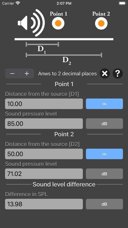 Distance Attenuation Calc screenshot-5