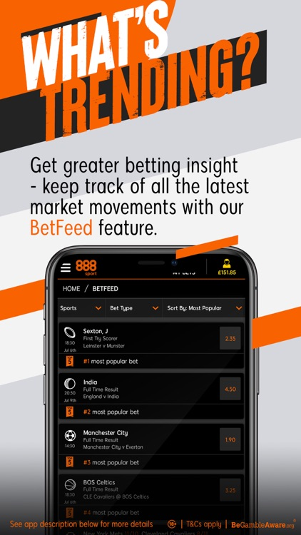 888sport: Live Sports Betting. screenshot-6