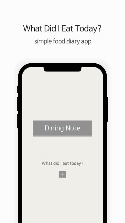 Dining Note: Simple Diet Diary