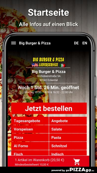 Big Burger & Pizza Eckental screenshot 2