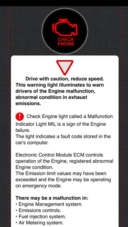 Cadillac Warning Lights Info screenshot-4