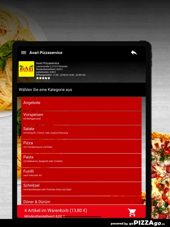 Avari Pizzaservice Dresden screenshot 8