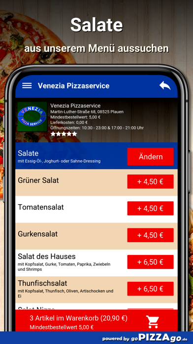 Venezia Pizzaservice Plauen screenshot 5