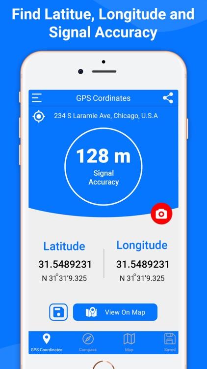 Measure Coordinates: GPS Map