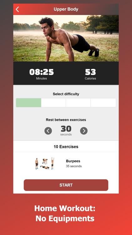 Home Workouts for Men screenshot-3