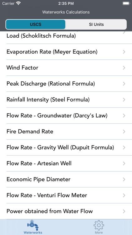 Waterworks Calculations screenshot-9