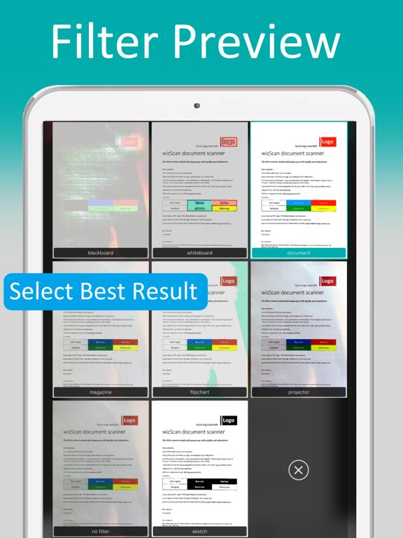 wizScan PDF document scanner screenshot