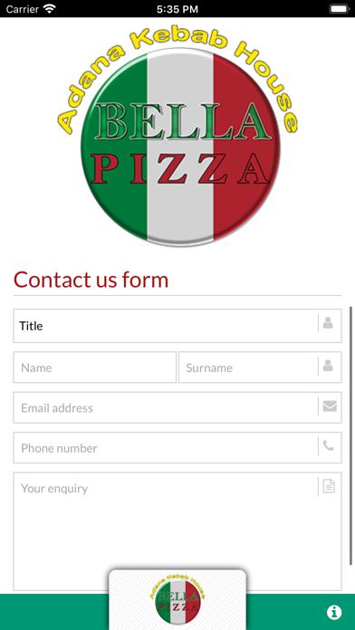 BELLA PIZZA MILDENHALL screenshot 2