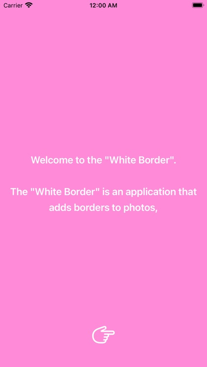 White Border: Square Fit Photo