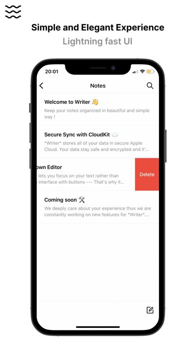 Writer - Notes, Lists, Editorのスクリーンショット