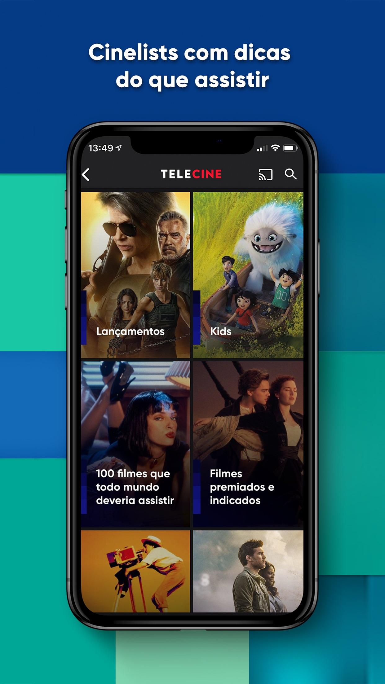 Screenshot do app Telecine – Filmes Online