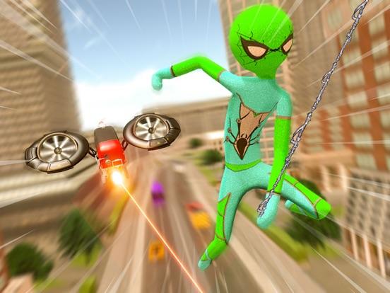 stickman araignée corde héros