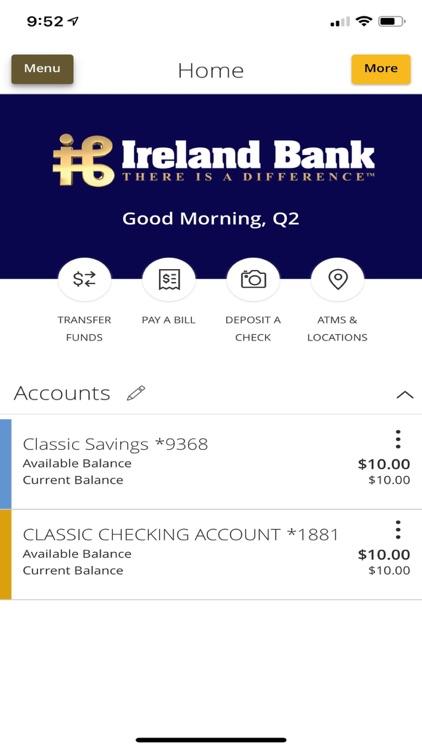 Ireland Bank Mobile Banking screenshot-3
