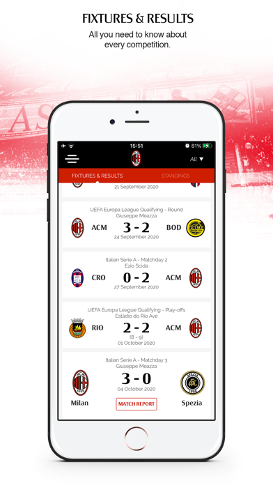 messages.download AC Milan Official App software
