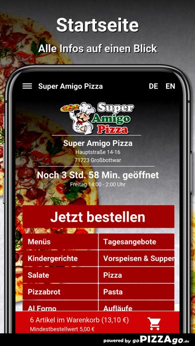 Super Amigo Pizza Großbottwar screenshot 2