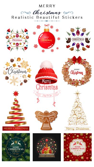 Realistic Christmas Stickers screenshot 1
