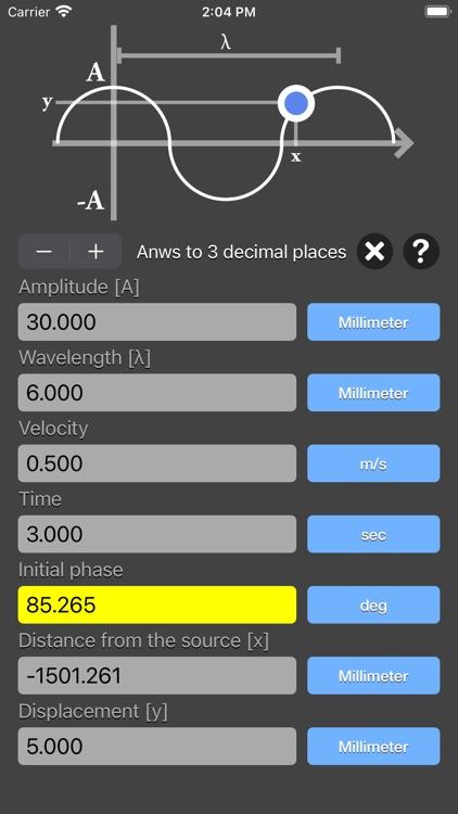 Harmonic Wave Equation Calc screenshot-7