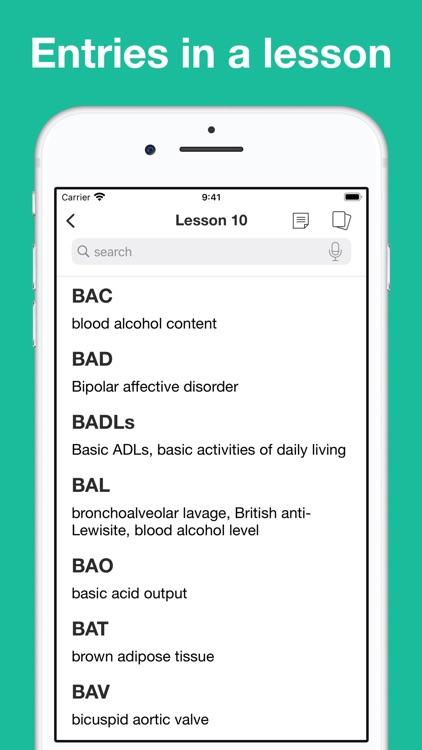 Medical Abbreviation Flashcard screenshot-7