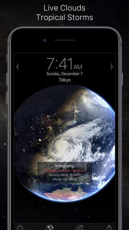 Living Earth - Clock & Weather screenshot-3