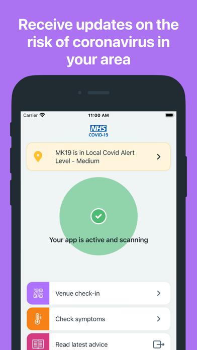 NHS COVID-19 screenshot two