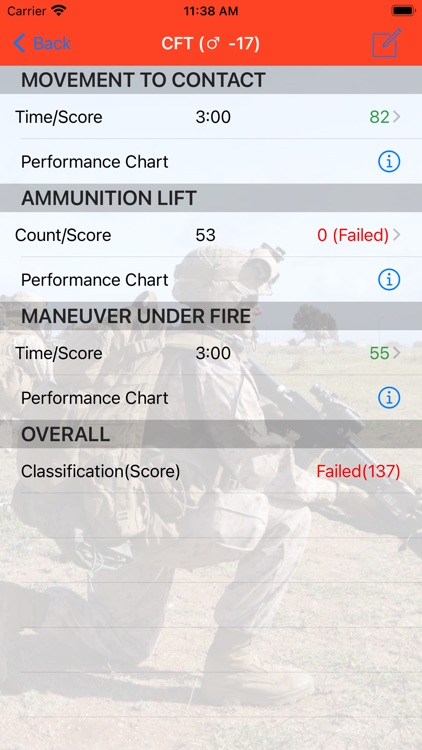 Fitness Calc for Marines screenshot-4