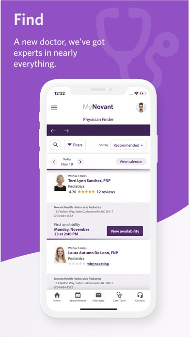 messages.download MyNovant software