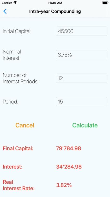 Financial Mathematics Calc screenshot-4