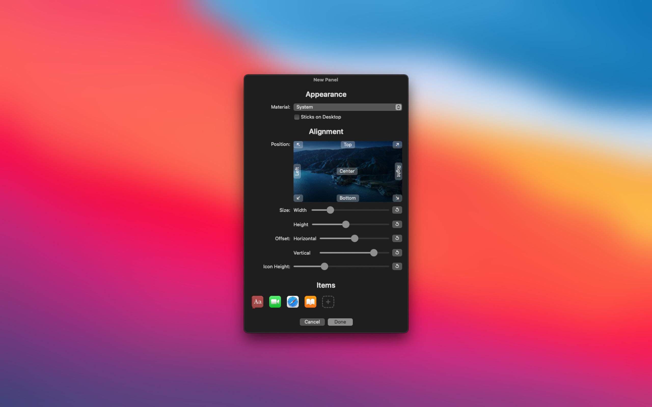 Screenshot do app Panelicious
