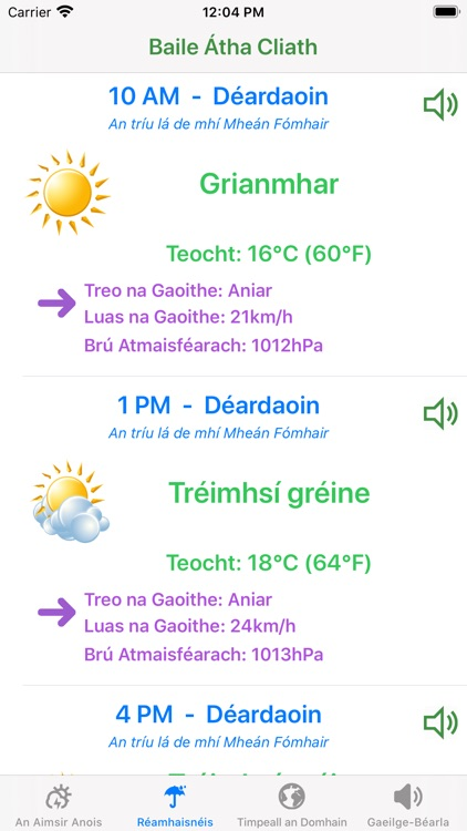 Aimsir - The Weather in Irish screenshot-0