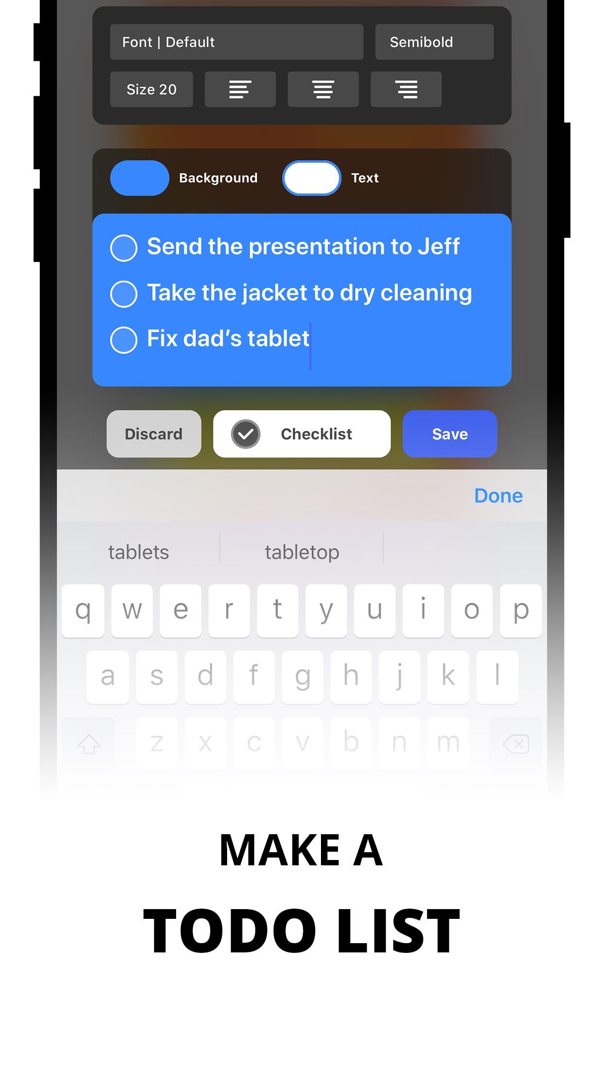Screenshot do app Sticky Notes Widget