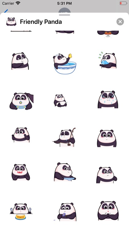 Friendly Panda Animated Emoji screenshot-3