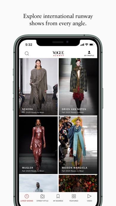 Vogue Runway Fashion Shows screenshot one