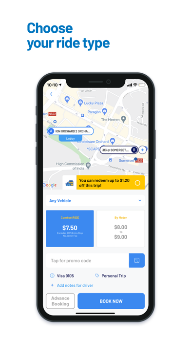 ComfortDelGro Booking Appのおすすめ画像3