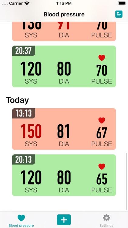 KeepBP - Blood pressure app