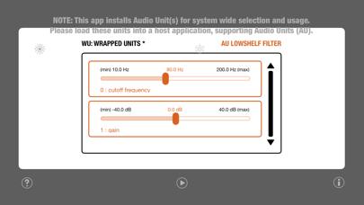 WU: AULowShelfFilter screenshot 3