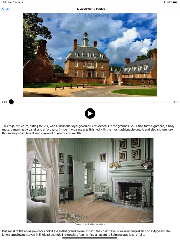 Ipad Screen Shot Colonial Williamsburg History 2