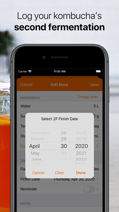 KombuchApp – Kombucha Tracker Screenshot