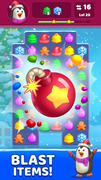 Super Christmas Match-3 Game
