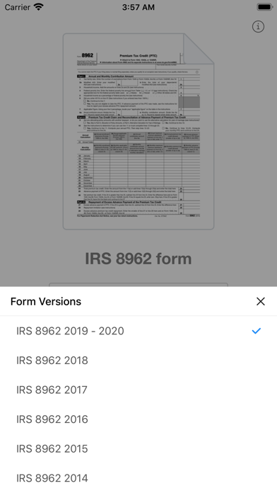 点击获取8962 Form