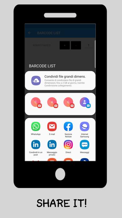 Barcode List App Screenshot