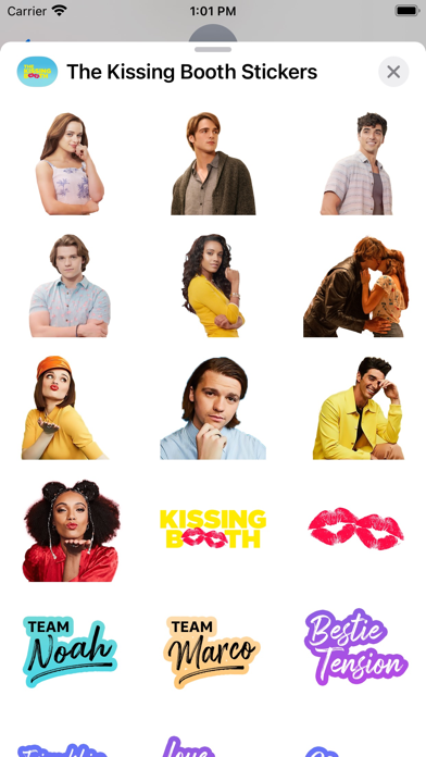 The Kissing Booth Stickers screenshot 1