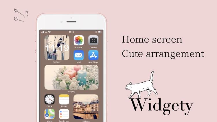 Widgety-Design Home screen