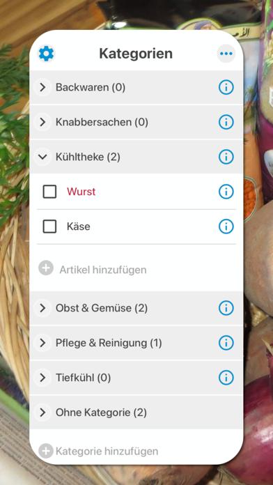 Einkaufsliste von ZeitkünstlerScreenshot von 2